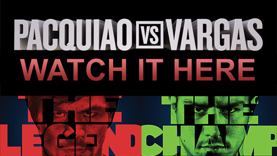 Pacquiao vs. Vargas Pay Per View