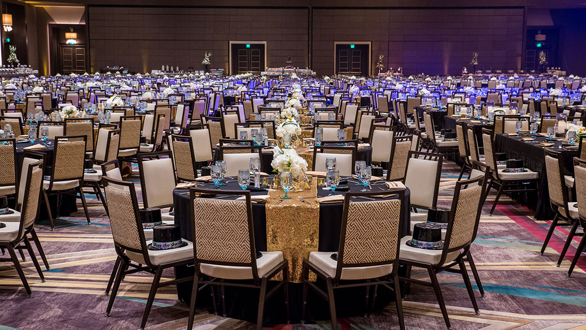Pechanga Summit - dinner setup